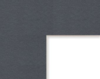 12x12 Inch Mat, 4x4 Inch Single Opening Image, Graphite Gray with Cream Core (B57312120404)