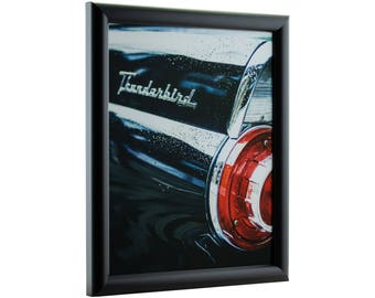 """Craig Frames, 16x20 Inch Contemporary Black Picture Frame, Bullnose, .765"""" Wide (FW2BK1620)"""