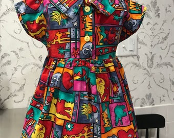 Vintage Dress made in USA by Beautiful Bambino