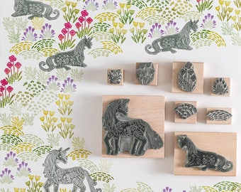 Unicorns Rubber Stamps
