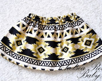 Black and Gold Birthday SKIRT ONLY~ First Birthday set~ Aztec Birthday Outfit~ Gold Birthday~ Birthday~ baby girl, black and gold