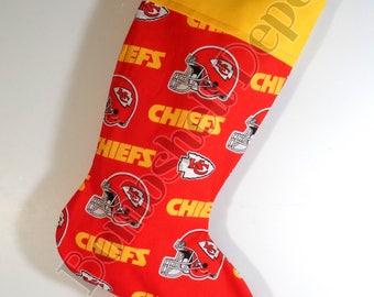 Kansas City Chiefs Football Fully Lined Christmas Stocking