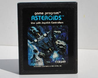 Vintage, Asteroids, Atari 2600, Game, Atari, Arcade, Space Shooter, Flying Saucers, Ship, Vintage Atari, Video Game, Game System