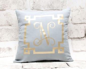 Custom Monogrammed Pillow Cover, 16x16