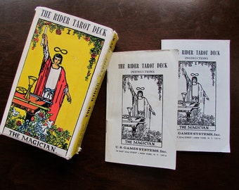 The Rider Tarot Deck Designed by Pamela Colman Smith for Arthur Edward Waite 1971 Reprint