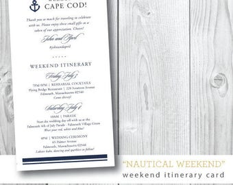 Nautical Wedding Weekend Itinerary