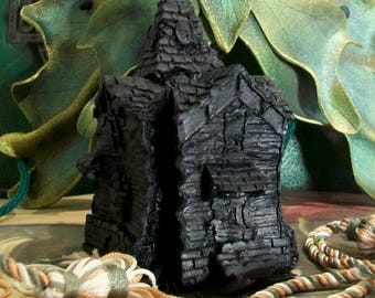 Haunted House Black Beeswax Candle Large #4