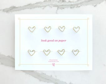 Gold Heart Paper Clips, Rose Gold, Planner Accessories, Stationery, Desk Accessories, Office Supplies, Cute Office, Paper Clip Hearts