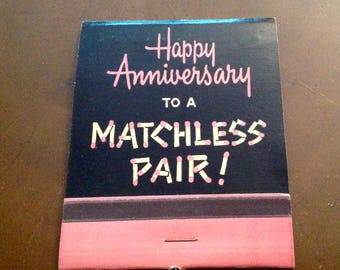 Vintage Hallmark large size matchbook Happy Anniversary matches