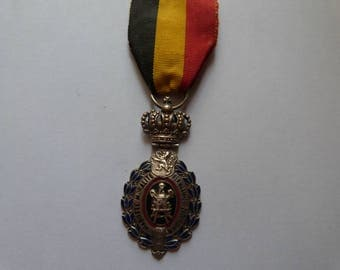 Belgian Labor Medal with Ribbon 25 Years of Service Award Habilete Moralite