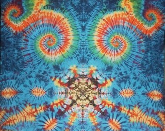Tie Dye Tapestry ~ 2014 003 100 Mandala and Spirals ~ Wild Eyes