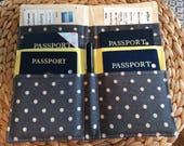 Travel Document Holder for Family Holds 4 Passports and Boarding Passes International Travel,  Tall Pockets, Boarding Pass, Travel Accessory