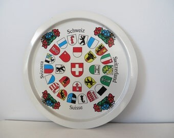 Switzerland Cantons Coat of Arms Beverage Tray