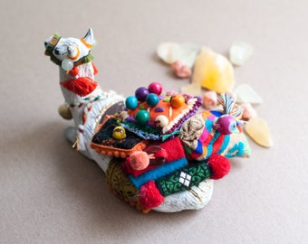 Sacred Animal Sculpture- The Carrier of Vibrance & Exuberance: The Llama