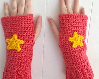 READY TO SHIP Steven Universe Inspired Fingerless Gloves - Cosplay, Women's