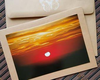 Blank photo card, Sunset