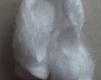 White Bamboo Silk Roving 2 oz