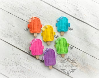 Popsicle Hair Clip Cream Popsicle Hair Clippie Desert Clip Popsicle Hair clip Pick one or two. Pick Left side or Right.