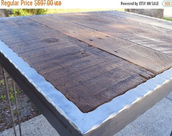 Limited Time Sale 10% OFF Hammered steel Dining Table with Hairpin Legs 36x36