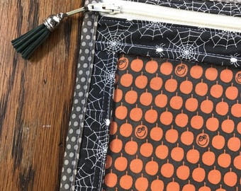 SALE - Show and Tell Fall vinyl front zipper pouch