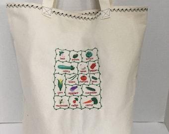 Reusable Shopping Bag - Market Bag - Canvas Tote