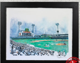 sportsmans park wall art print sport decor st louis cardinals fan gift