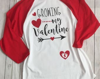 Growing My Valentine   Valentineu0027s Pregnancy Announcement Shirt   Pregnancy  Shirt   Baby Bump   Pregnant