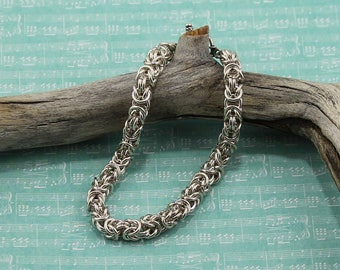 Classic Byzantine Bracelet in Sterling Silver, 14K Gold Filled or Rose Gold-Filled