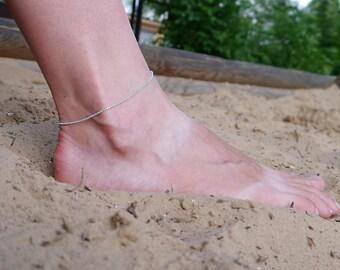 Ankle Bracelet, Blue mint Chain Ankle Bracelet, Beach Jewelry, chain bracelet, Summer Jewelry, Women Ankle Bracelet, Ankle for Women