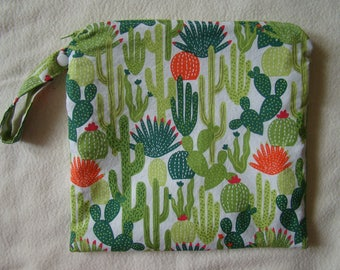 Made to Order: Wet Bag, you choose the style and size, Cactus print.