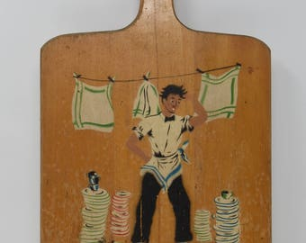 Vintage painted cutting board