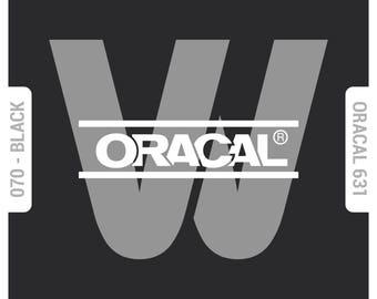 Oracal 631 Matte - Self Adhesive Vinyl (SAV) - Black (070) - Solid Color