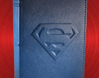 Superman Leather Book Cover