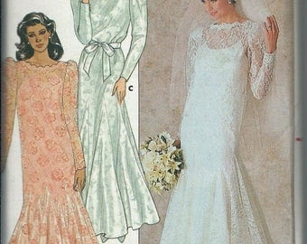 ON SALE Bridal Gown Bridesmaid Mother-Of-Bride Dress Pattern Butterick 4414 Sizes 8, 10,  12, UNCUT