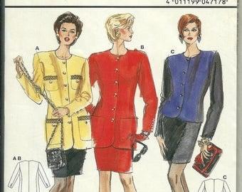 ON SALE Burda 4717 Misses Slim Skirt and Jacket Top Pattern, Size 10-20/ 36-46, Uncut