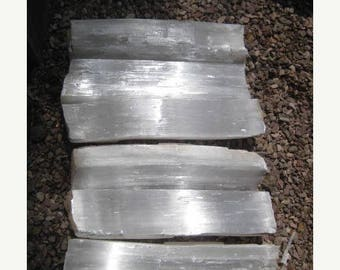 2 day sale 10% selenite Gigantic Selenite Fireplace logs - FREE SHIPPING - 6 crystal Logs - all included
