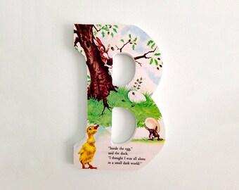 """Wooden letter """"B""""-The Golden Egg Book"""