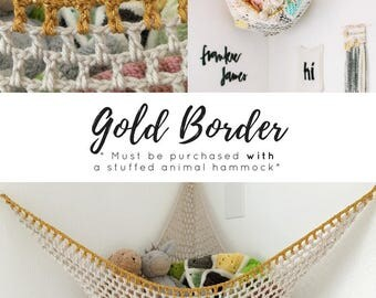ADD-ON - Gold Border - **PLEASE Note- this item is an Add-On Border. This is not a hammock**