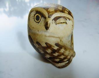"Vintage Swedish ceramic owl "" Knip "" by Gustavsberg Studio - Edward Lindahl design"