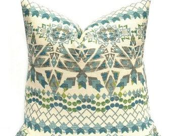 15% Off Sale Decorative Pillows, Tribal Pillow, Burlap Pillow Blue,  Pillow covers - Blue Pillow - Blue Pillow cover - Toss Pillow cover - B