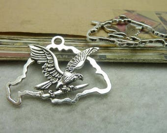 The alloy antique silver plating eagle connector cab setting
