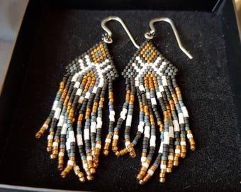 Native American style tassle earrings