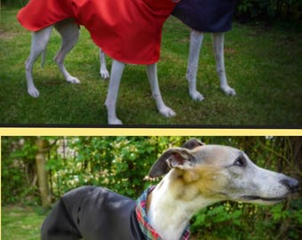 Whippet and Greyhound cotton lined summer raincoats