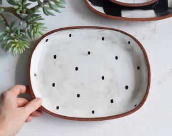 Ceramic Serving Platter - Pottery Platter - Terracotta Platter - Platter - Ceramic Plate - Serving Plate