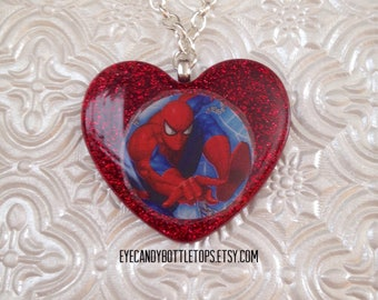 Spiderman Resin Charm Necklace