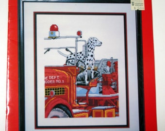 """Cross Stitch Pattern Booklet """"Our Friend The Fireman"""" Charted Designs"""