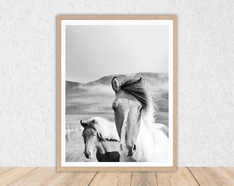 Horse Wall Art // INSTANT DOWNLOAD // Printable Art // Horse // Art Print // Wall Decor // Digital Download