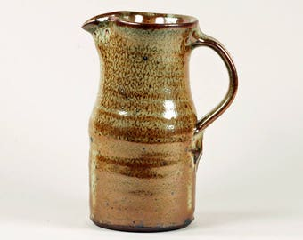 Lustrous, shino glazed pitcher