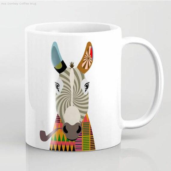 Donkey Mug, Donkey Gifts, Donkey Art, Donkey Painting, Donkey Print, Animal Mug
