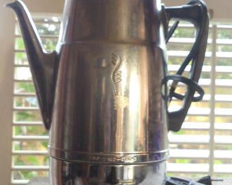 Vintage Cambridge Coffee Percolator Electric